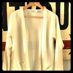 Cream color women's lightweight cardigan
